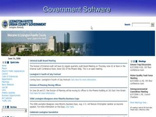 Government Software