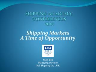 SHIPPING ACADEMIC CONFERENCES 2012