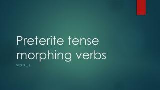 Irregular preterite verbs:  hacer, tener, estar, poder