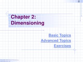 Chapter 2: Dimensioning