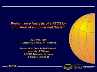 Performance Analysis of a RTOS by Emulation of an Embedded System