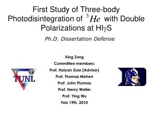 First Study of Three-body Photodisintegration of          with Double Polarizations at HI g S