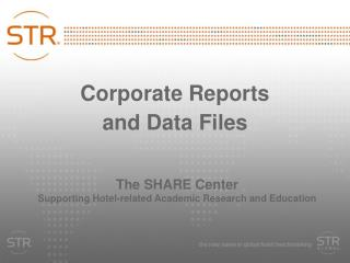Corporate Reports  and Data Files