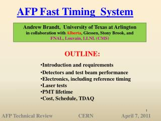 AFP Fast Timing  System