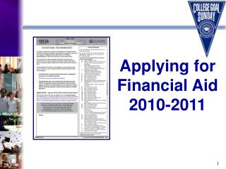Applying for  Financial Aid     2010-2011