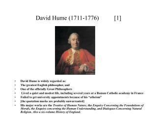 David Hume (1711-1776)          [ 1 ]