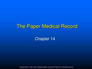The Paper Medical Record