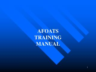 AFOATS TRAINING MANUAL