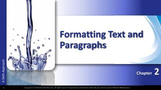 Formatting Text and Paragraphs