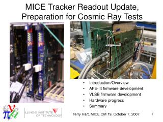 MICE Tracker Readout Update, Preparation for Cosmic Ray Tests