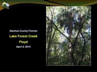 Alachua County Forever Lake Forest Creek Floyd April 8, 2014