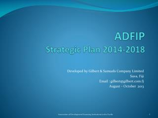 ADFIP Strategic Plan 2014-2018