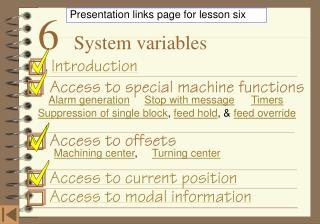 6    System variables
