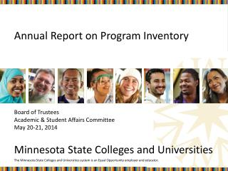 Annual Report on Program Inventory