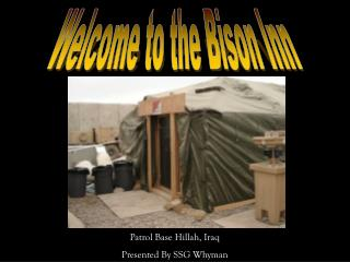 Welcome to the Bison Inn
