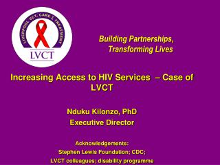 Building Partnerships, Transforming Lives
