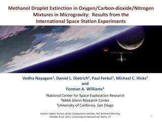 Methanol Droplet Extinction in Oxygen/Carbon-dioxide/Nitrogen  Mixtures in Microgravity:  Results from the  Internationa
