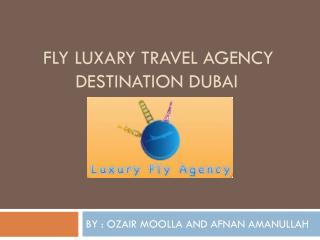 FLY LUXARY TRAVEL AGENCY       DESTINATION DUBAI