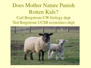 Does Mother Nature Punish Rotten Kids? Carl Bergstrom UW biology dept Ted Bergstrom UCSB economics dept