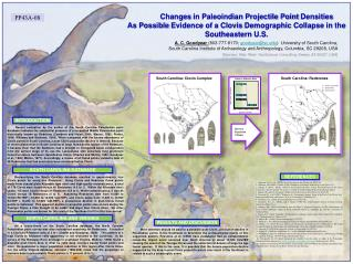 Changes  in Paleoindian Projectile Point  Densities  As Possible  Evidence of a  Clovis  Demographic  Collapse in  the S