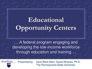 Educational Opportunity Centers