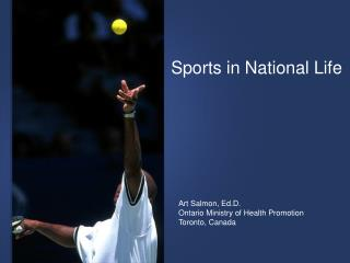Sports in National Life