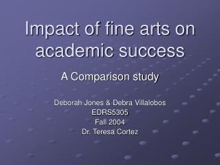 Impact of fine arts on academic success