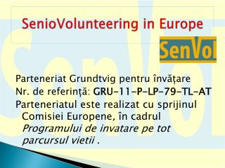 SenioVolunteering in Europe