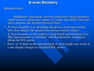 A-scan Biometry