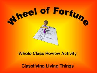 Whole Class Review Activity Classifying Living Things