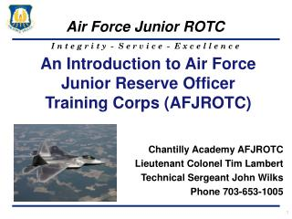An Introduction to Air Force Junior Reserve Officer Training Corps (AFJROTC)