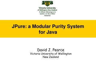 JPure: a Modular Purity System for Java