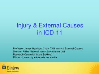 Injury  & External Causes  in ICD-11