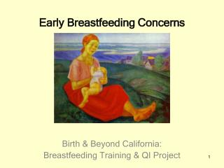 Early Breastfeeding Concerns