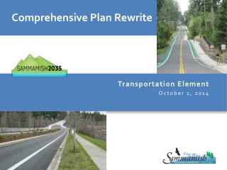 Transportation Element October 2, 2014
