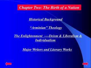 Chapter Two: The Birth of a Nation