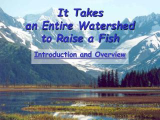 It Takes  an Entire Watershed  to Raise a Fish