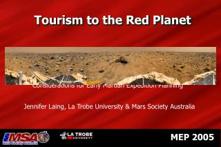 Tourism to the Red Planet