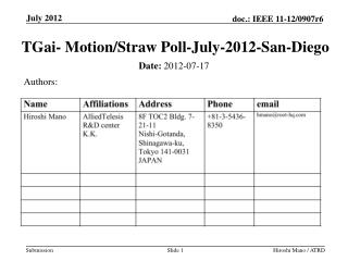 TGai - Motion/Straw Poll-July-2012-San-Diego