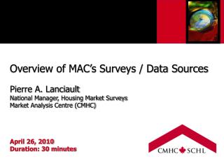 Overview of MAC's Surveys / Data Sources