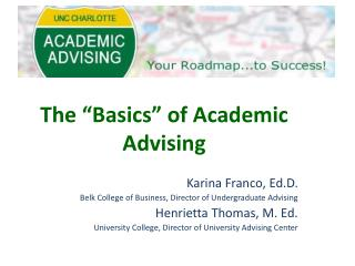 "The ""Basics"" of Academic Advising"