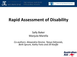 Rapid Assessment of Disability