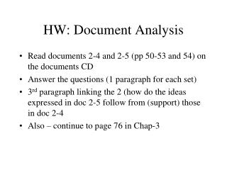 HW: Document Analysis