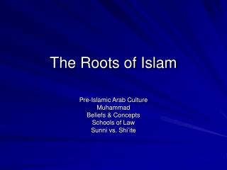 The Roots of Islam