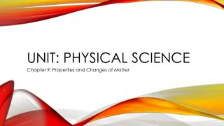 Unit: Physical Science