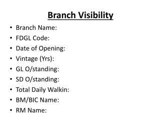Branch Visibility