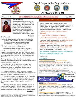 Equal Opportunity Program News