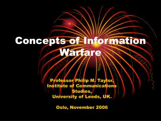 Concepts of Information Warfare