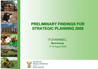 PRELIMINARY FINDINGS FOR STRATEGIC PLANNING 2009