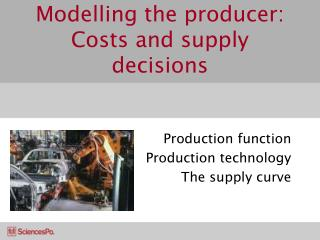 Modelling the producer: Costs and supply decisions
